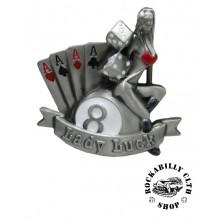 Přezka na pásek Rocka Lady Luck Gamble Buckle
