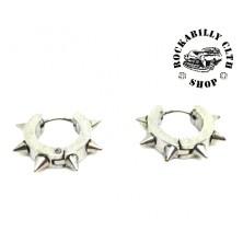 Náušnice Rocka Dog Collar Silver