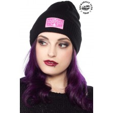 Kulich čepice Sourpuss Clothing Anchor Logo Beanie Hat Blk