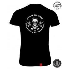 Tričko Dámské Outlaw Bastards Skull