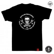 Tričko pánské Outlaw Bastards Skull