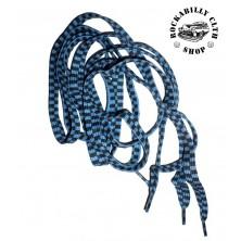 Tkaničky do bot Rocka Blue / Blk Race