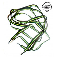 Tkaničky do bot Rocka Blk / Green / Yellow Line