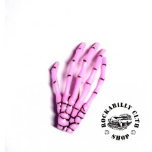 Sponka do vlasů Rocka Hairclip Bones Pink