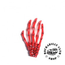 Sponka do vlasů Rocka Hairclip Bones Red
