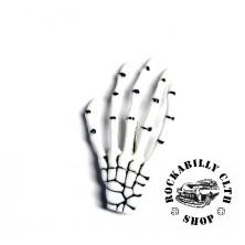 Sponka do vlasů horror Rocka Hairclip Bones White