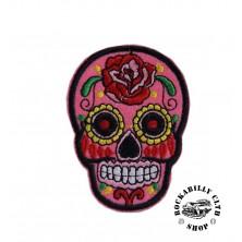 Nášivka Rocka Skull Pink