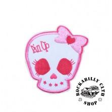 Nášivka Rocka Skull Pin Up