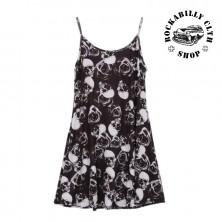 Šaty Rocka Skulls & Roses Strap