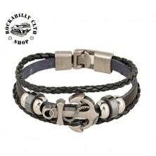 Kožený náramek Rocka Bracelet Anchor