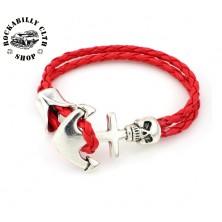 Náramek Rocka String Bracelet Anchor Red