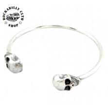 Náramek Rocka Iron Bracelet Skulls