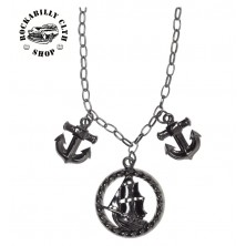 Náhrdelník Sourpuss Clothing Necklace Tall Ship Charm
