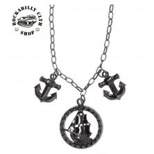 Náhrdelník Sourpuss Clothing Necklace Tall Ship Charm