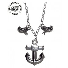 Náhrdelník Sourpuss Clothing Necklace Anchor Charm