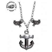 Náhrdelník Sourpuss Clothing Necklace Anchor Charm