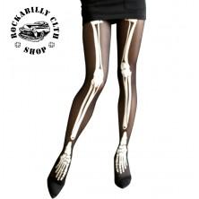 Punčochy Rocka Stockings Bones