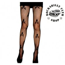 Punčochy Rocka Stockings Skulls