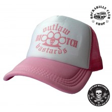 Kšiltovka Truckerka Outlaw Bastards Boxer Bitch Pink