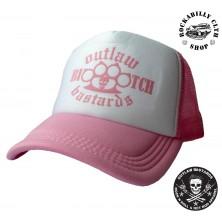 Kšiltovka Truckerka Outlaw Bastards Boxer Bitch Pink