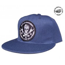 Kšiltovka Outlaw Bastards Skull Blue