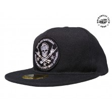 Kšiltovka Outlaw Bastards Skull Black