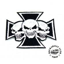 Nášivka Rocka Cross Skulls
