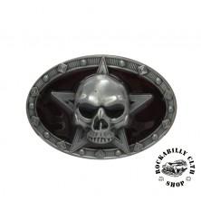 Přezka na pásek Rocka Skull Star