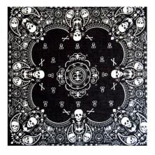 Šátek Rocka Oldschool Black White Pattern Skulls