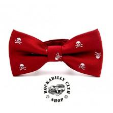 Motýlek Rocka Tiebow Skulls Red