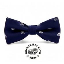Motýlek Rocka Tiebow Skulls Blue