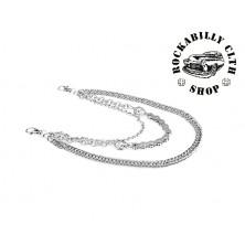 Řetěz k peněžence Rocka Skulls & Chain Wallet Chain