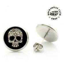 Náušnice Kulaté Rocka Round Skull