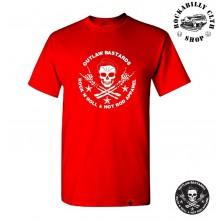 Tričko pánské Outlaw Bastards Skull Red