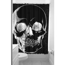 Koupelnový závěs Sourpuss Shower Curtain Anatomical Skull