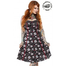 Dámské šaty Rockabilly Retro Pin Up Sourpuss Clothing Batty Peppers Peggy Dress
