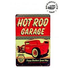 Plechová americká US cedule Rocka Hot Rod Garage II.
