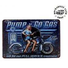 Plechová americká US cedule Rocka Pump´n Go Gas