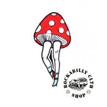 Nášivka Rocka Mushroom Red/Wht