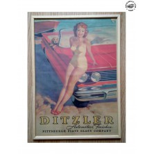 Retro obraz Rocka Pin-Up Red Convertible
