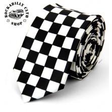 Kravata Rocka Tie Racers Black/ Wht