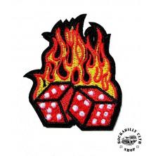 Nášivka Rocka Dice Flames