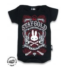 Dětské Body Six Bunnies Stay Gold Black