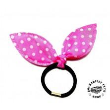 Gumička do vlasů Rocka Hairclip Bow Pink