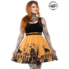 Dámské šaty Rockabilly Retro Pin Up Sourpuss Clothing Haunted House Dress