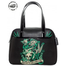 Taška Kabelka Sourpuss Clothing Monster Tattoo Bowler Purse
