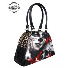 Dámská taška kabelka retro rockabilly pin-up Liquor Brand Bowler Bag Eternal Bliss
