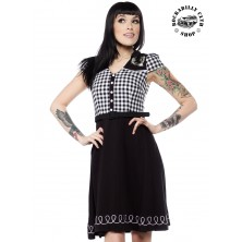 Šaty Rockabilly Retro Pin Up Sourpuss Clothing Lucky Line Dance Dress