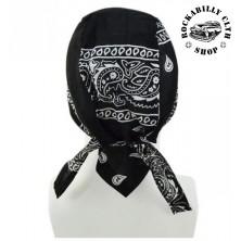 Šátek Rocka Headwear Oldschool Black