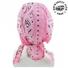 Šátek Rocka Headwear Oldschool Pink